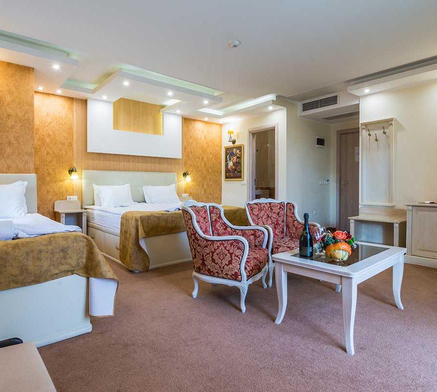 Лукс апартамент с кът за почивка и стилно обзавеждане